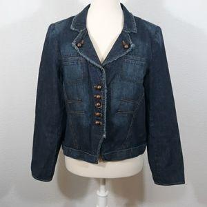 Jones Wear Jeans Denim Jacket sz 10